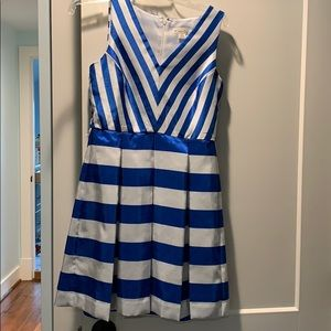 Blue and white party dress